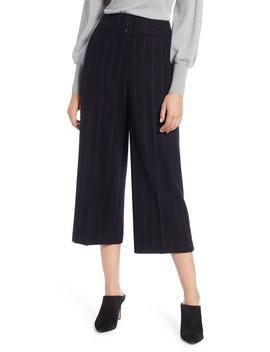 Stripe Wide Leg Crop Suit Pants by Halogen®
