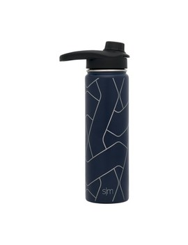 Simple Modern Summit Stainless Steel Hydration Bottle 22oz   Deep Ocean Blue by Simple Modern