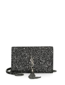 Kate Glitter Crossbody Wallet by Saint Laurent