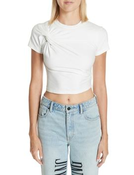 Twist Compact Jersey Tee by T By Alexander Wang