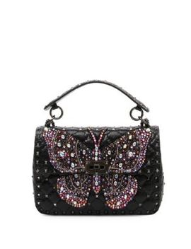 Rockstud Butterfly Shoulder Bag by Valentino Garavani