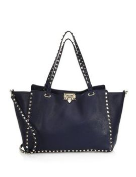 Medium Rockstud Leather Satchel by Valentino Garavani