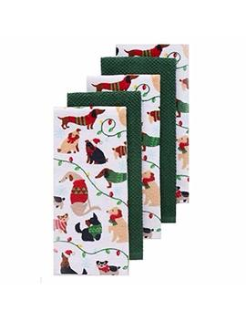 The Big One Christmas Dogs Kitchen Towel 5 Pk. by The Big One