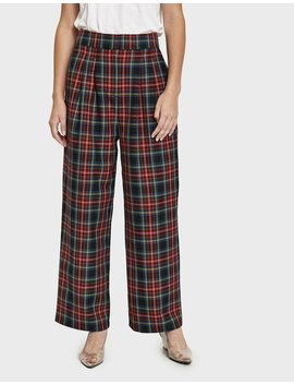 Sinclair Plaid Trouser by Just Female