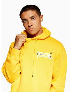 Yellow 'psyche' Hoodie by Topman