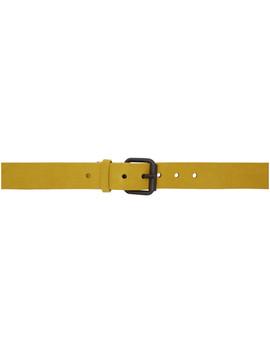 Yellow Suede Medium Belt by Haider Ackermann