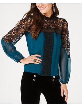 Lace Trim Top, Created For Macy's by Nanette Lepore