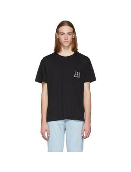 Black Embroidered Logo T Shirt by Enfants Riches DÉprimÉs