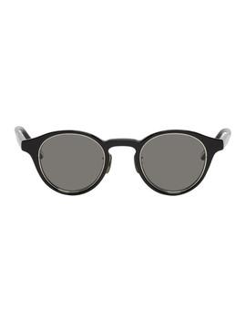 Black Zrh Round Sunglasses by Yuichi Toyama