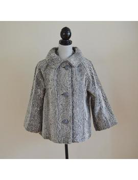 Vintage 60s Silver Grey Faux Fur Jacket, Dynel + Mohair Blend   Bridal, Bridesmaid, Wedding, Formal, Spring Coat, Size Medium, Vintage Bride by Etsy