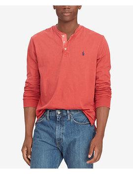 Men's Cotton Jersey Henley Shirt by Polo Ralph Lauren