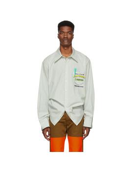 Green Reinier Stripe Shirt by Botter