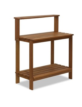 Ebern Designs Mcswain Outdoor Hardwood Potting Bench & Reviews by Ebern Designs
