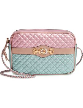 Small Quilted Metallic Leather Shoulder Bag by Gucci