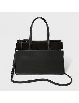 Laurel Multi Zip Satchel Handbag   A New Day™ by A New Day™