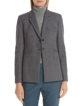 Elbow Patch Plaid Blazer by Nordstrom Signature