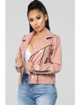 Ride Or Die Moto Jacket   Rose by Fashion Nova