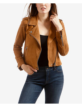 Suede Motorcycle Jacket by Lucky Brand