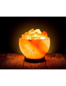 "Bloomsbury Market Hawthorne Natural Himalayan Rock Fire Bowl 6.5"" Salt Lamp & Reviews by Bloomsbury Market"