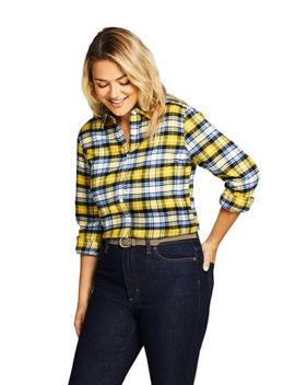 Women's Plus Size Flannel Shirt by Lands' End
