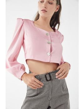 Tach Clothing Nadia Silk Button Front Blouse by Tach Clothing