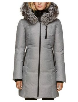 Fox Fur Trim Down Coat by Soia & Kyo