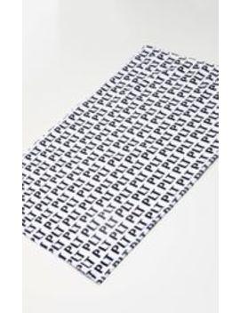 Plt White Logo Gym Towel by Prettylittlething