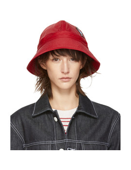 Red Bunny Patch Bucket Hat by Marni Dance Bunny