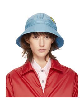 Blue Bunny Patch Bucket Hat by Marni Dance Bunny