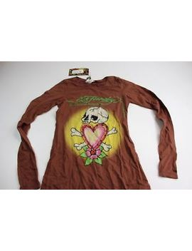 Nwt Womens Ed Hardy Skull Bones Heart Long Sleeve Shirt Xs by Tops And Such
