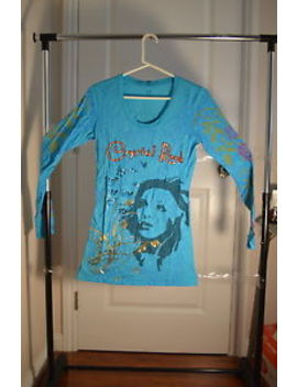 Women Crystal Rock By Christian Audigier Ed Hardy T Shirt  Paisley Girl  Sz*M by Crystal Rock