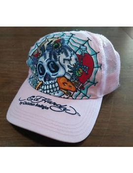 Ed Hardy By Christian Audigier  Women Trucker Hat Pink Aces Poker Skull Spider by Ebay Seller