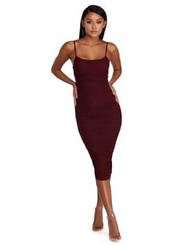Ruched Sensation Midi Dress by Windsor