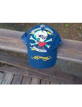 New Don Ed Hardy Love Dies Hard Rhinestone Skull Trucker Hat Baseball Cap Womens by Ed Hardy