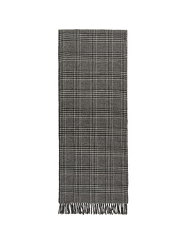 White & Black Wool Scarf by Comme Des GarÇons Homme