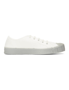 White & Grey Special Low Gs Sneakers by Spalwart