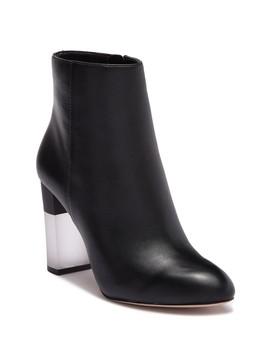 Hadie Leather Block Heel Boot by Enzo Angiolini