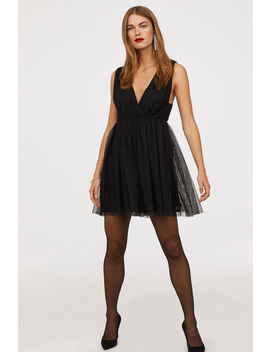 V Neck Tulle Dress by H&M