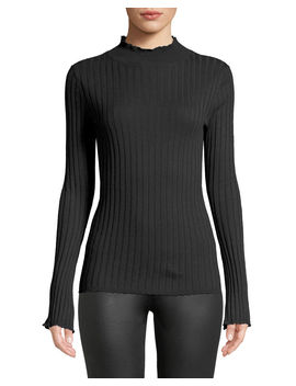 Gestina Ribbed Mock Neck Sweater by Joie