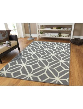 Wrought Studio Pleione Trellis Gray Indoor/Outdoor Area Rug by Wrought Studio