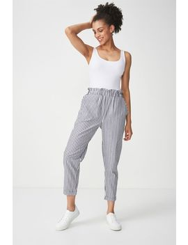 Abi High Waist Paperbag Pant by Cotton On