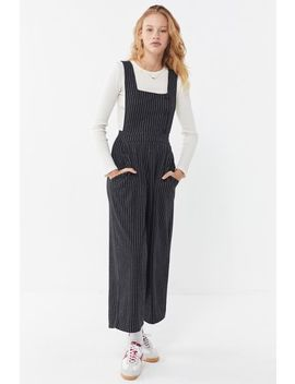 Uo Phoebe Pinstripe Pinafore Jumpsuit by Urban Outfitters