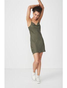 Woven Vera Cowl Neck Mini Dress by Cotton On