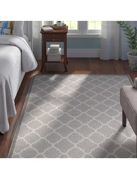 Andover Mills Hansa Trellis Lattice Gray Indoor Area Rug & Reviews by Andover Mills