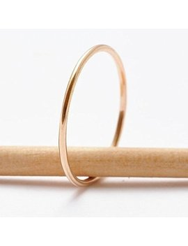 Solid 18 K Gold Ring Perfectly Shinny And Smooth by Etsy