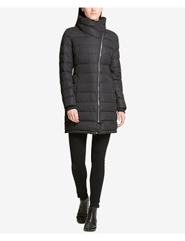 Asymmetrical Packable Puffer Coat, Created For Macy's by Dkny
