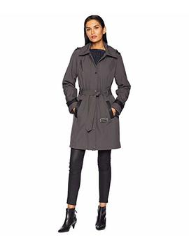 Snap Front Belted Softshell Coat M523004 Gz by Michael Michael Kors