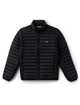 Men's Short Contrast Lining Quilted Jacket by Lacoste
