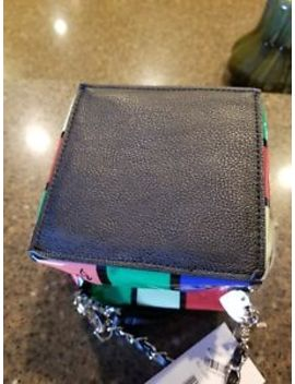 Betsey Johnson Rubik's Cube Kitch Crossbody Handbag Purse Patent Leather Pre Own by Betsey Johnson