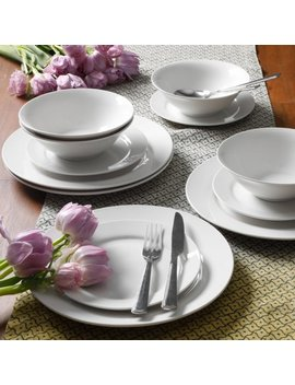 Gibson Home Everyday Round 12 Piece Dinnerware Set by Gibson Home